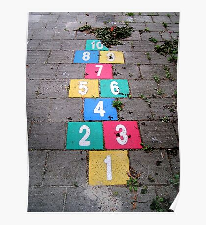 Hopscotch game Poster
