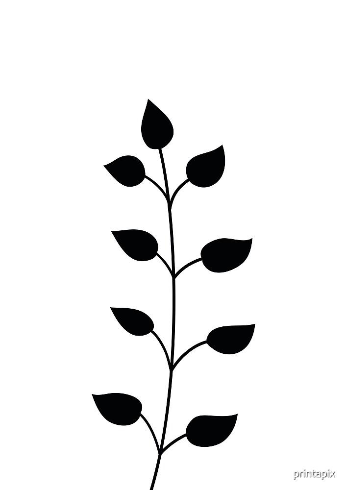 Scandinavian minimal plant III by printapix