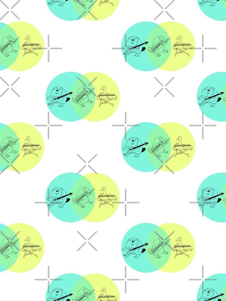 Keytar Platypus Venn Diagram Graphic T Shirt Dress By Guyblank