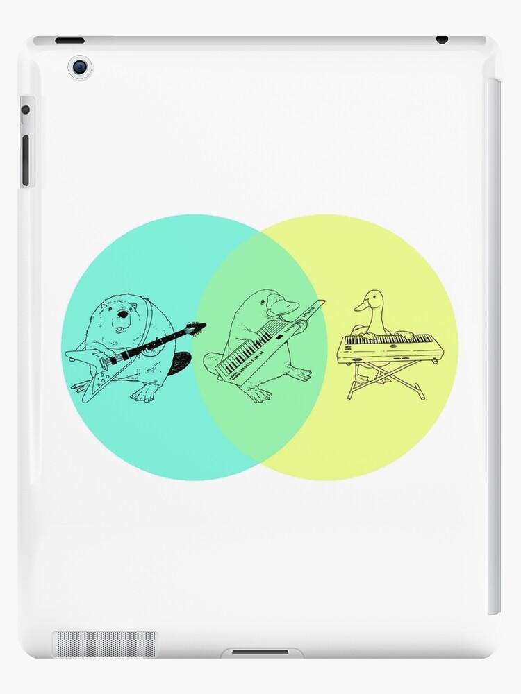 Keytar Platypus Venn Diagram Ipad Cases Skins By Guyblank Redbubble