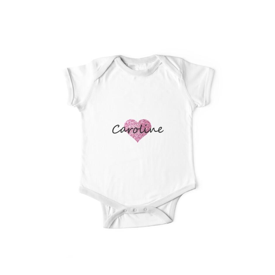 Caroline pink glitter heart by Obercostyle