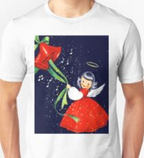 Happy holidays from a little angel girl with bells T-Shirt