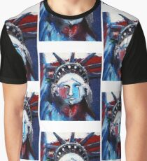 Lady Liberty Weeps Graphic T-Shirt