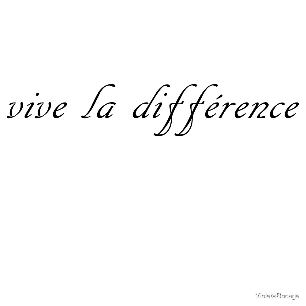 Vive la Difference, in black by VioletaBocage