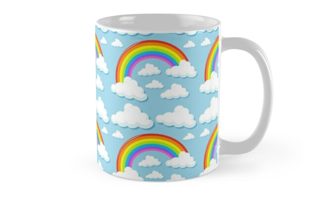 Rainbow and Clouds by Jandsgraphics