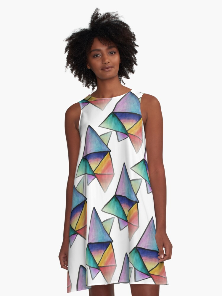 Triangle Bliss A-Line Dress Front