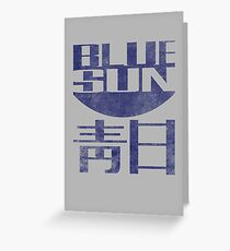 Blue Sun Vintage Style Shirt (Firefly/Serenity) Greeting Card