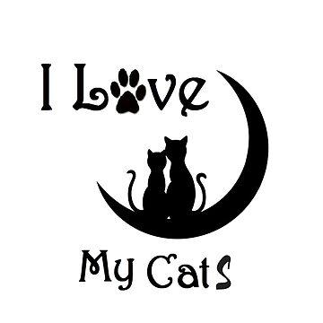 Tee Shirt - I Love My Cat - By G.B Fashion Care  by gubolta