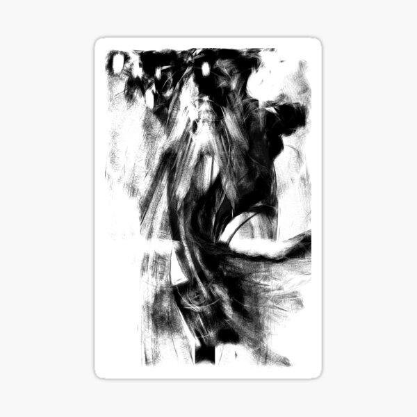 Schwarz-Weiß-Nacht Sticker