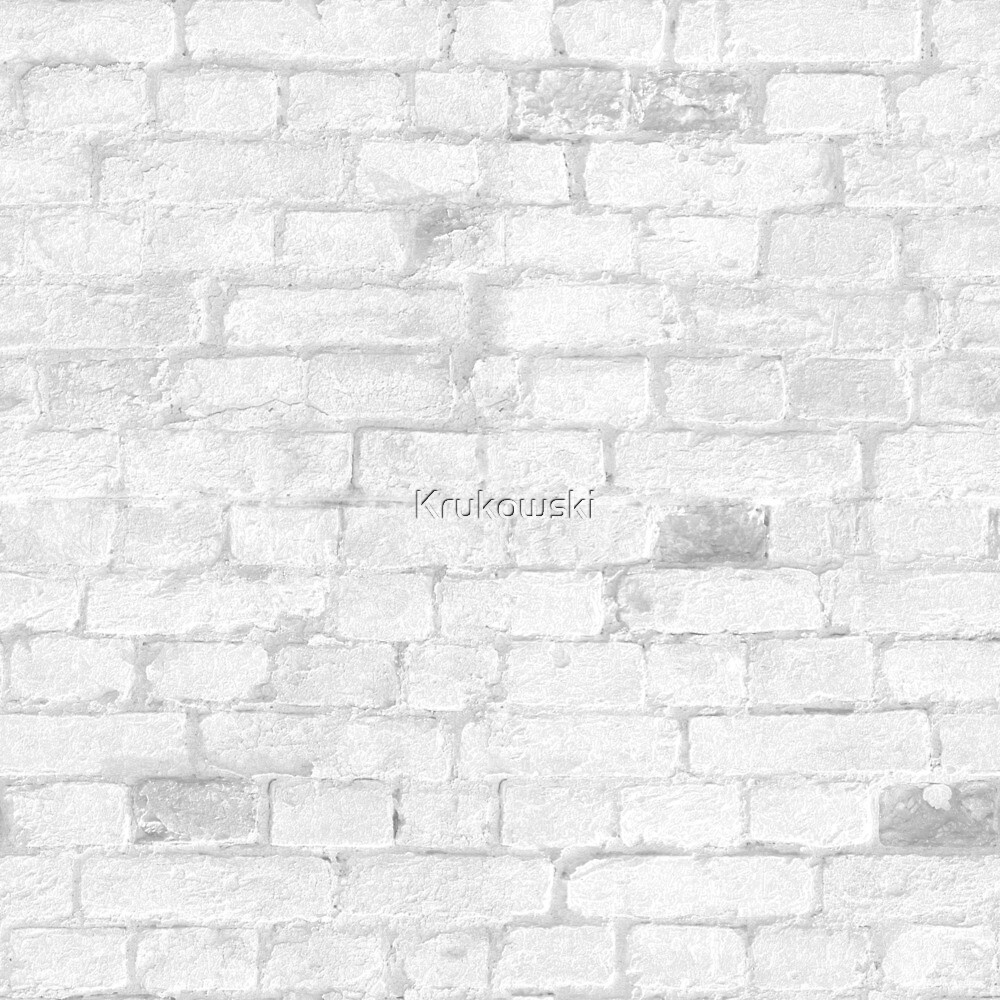 White Brick Wall Modern Texture by Krukowski