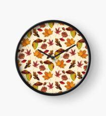 Fallen Leaves. Clock