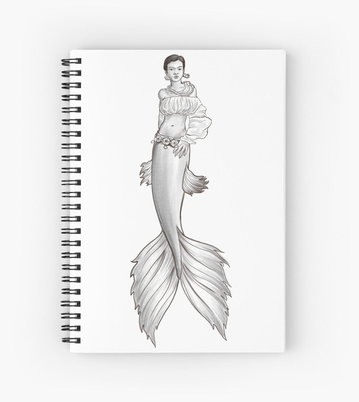 Frida Kahlo Mermaid by Jen Toal