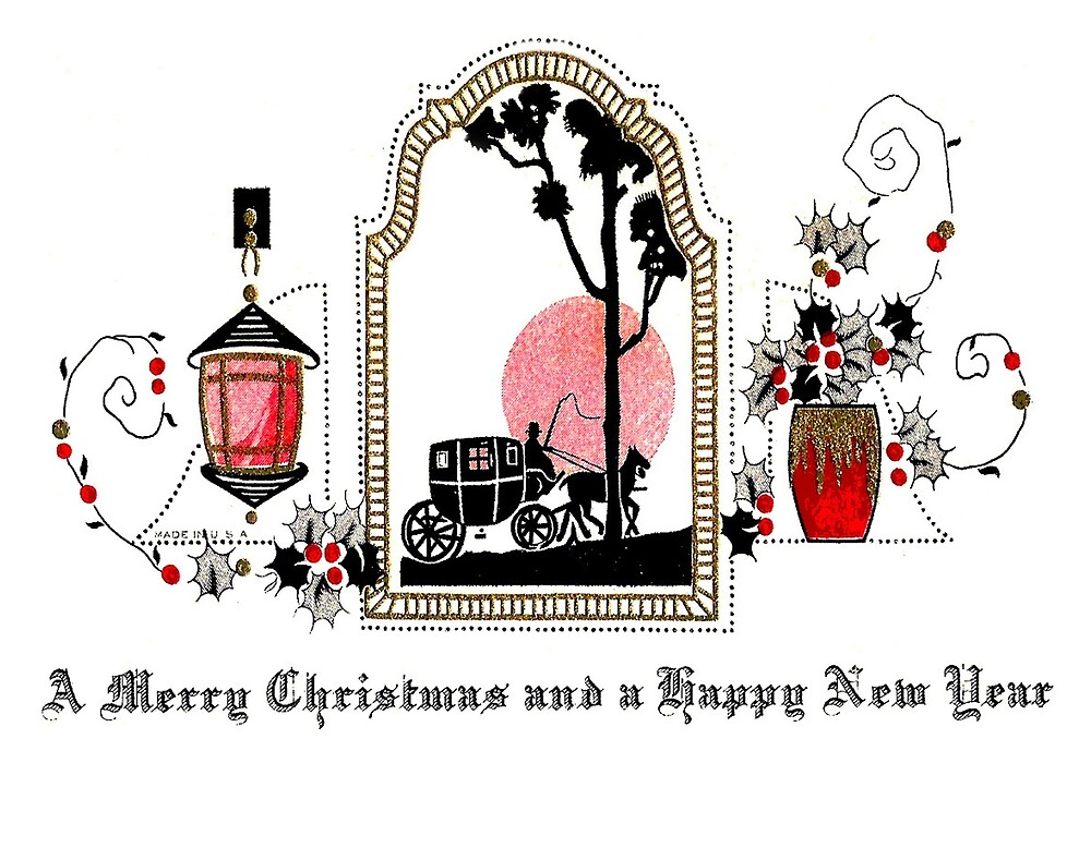 Merry Christmas and Happy New Year romantic greeting card by AmorOmniaVincit