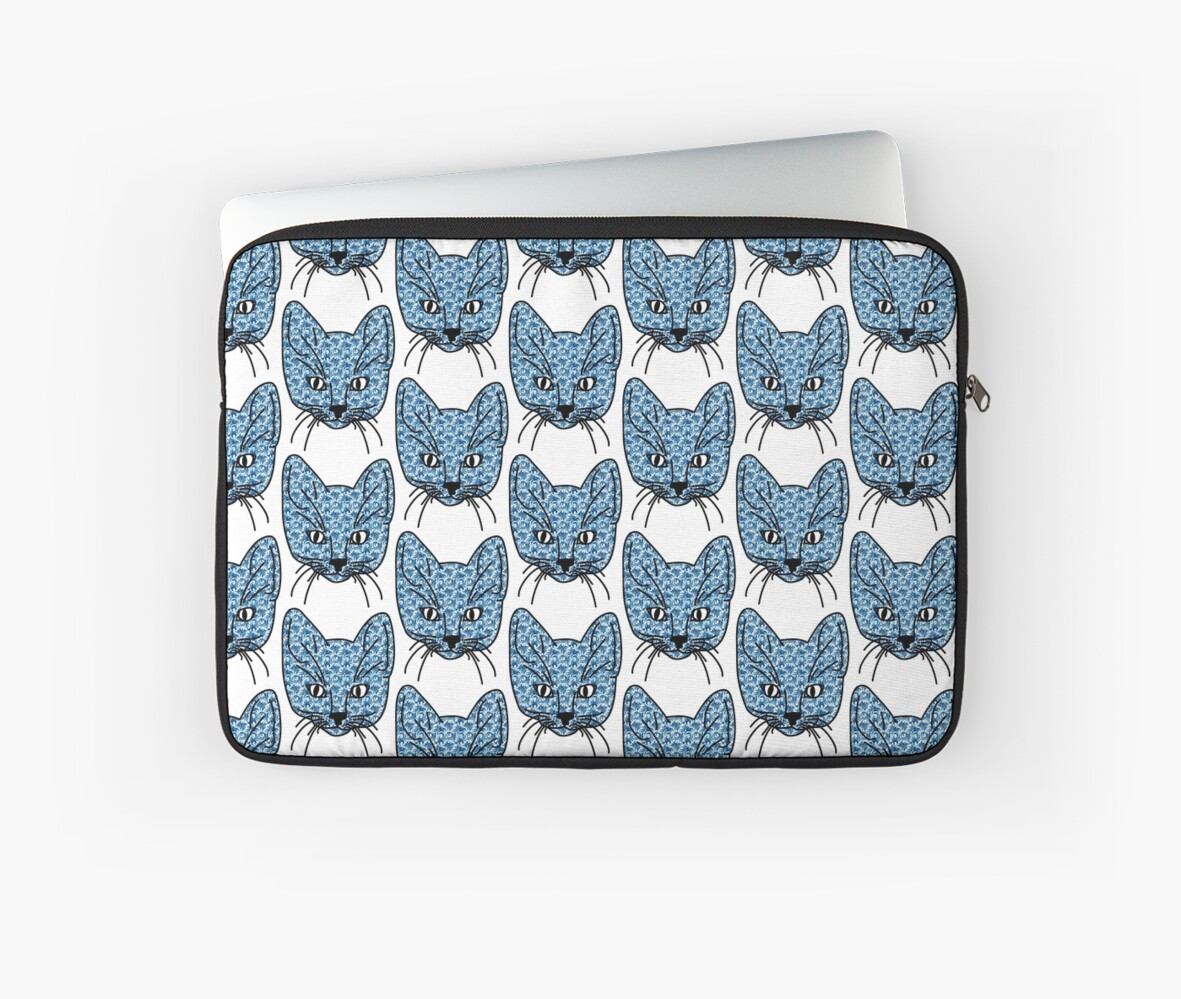 Crazy Kitten blue pattern by Danigeheb
