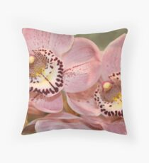 """Cymbidium"" Throw Pillow"