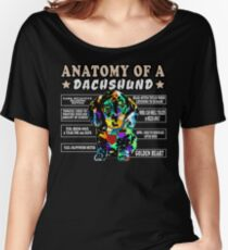 Anatomy of a Dachshund Women's Relaxed Fit T-Shirt