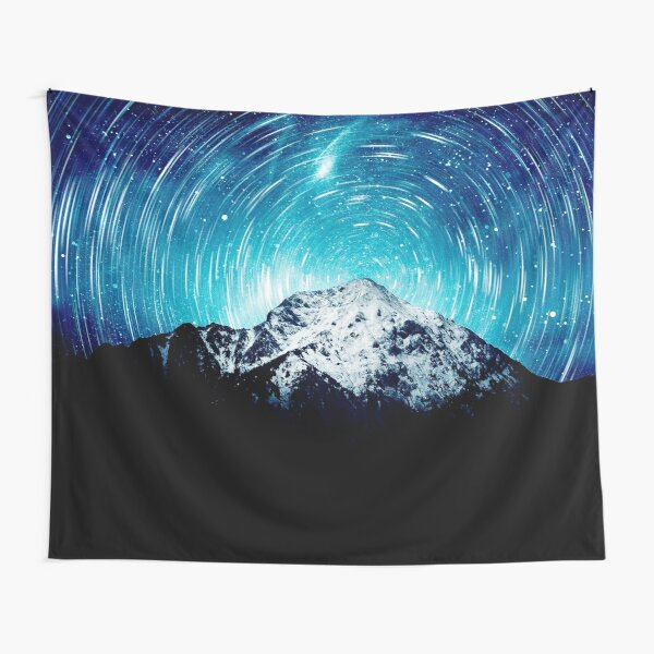 Between the galaxy and the mountain Tapestry