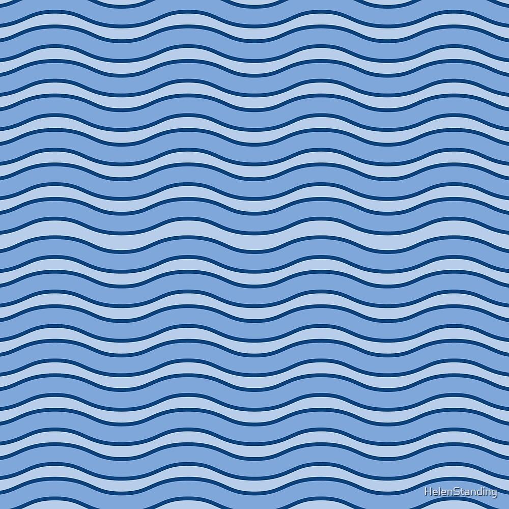 Waves - Blue (C3) by HelenStanding