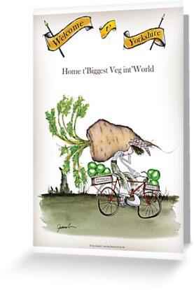 Funny Yorkshire 'big parsnip' by Tony Fernandes