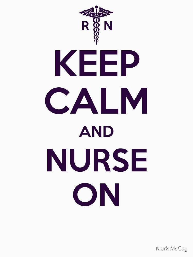Keep Calm and Nurse On - Purple Lettering by darthkaos