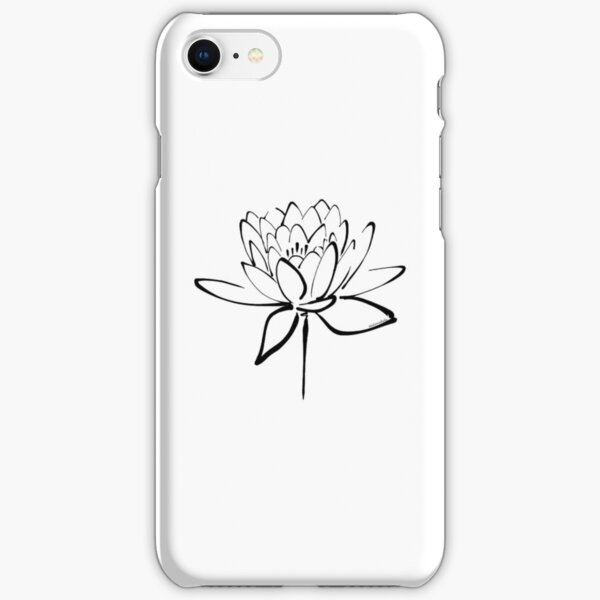 Lotus Flower Calligraphy (Black) iPhone Snap Case