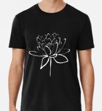 Lotus Flower Calligraphy (White) Men's Premium T-Shirt