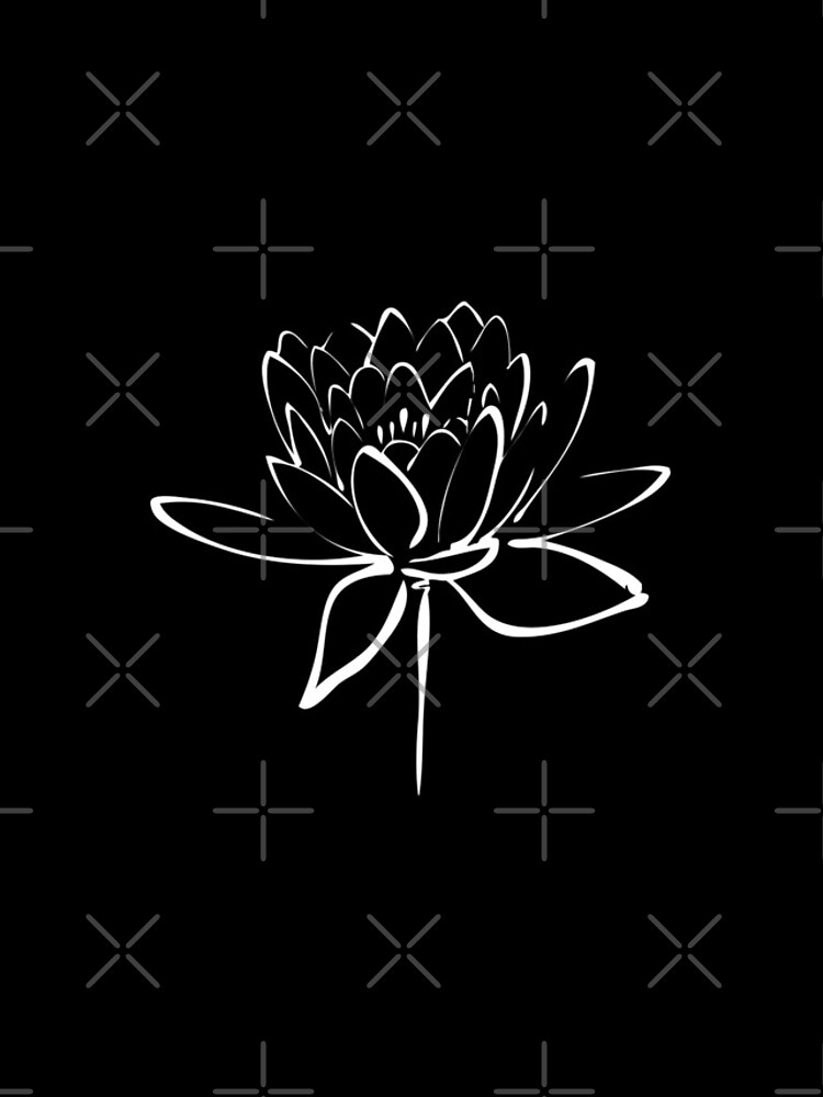 Lotus Flower Calligraphy (White) by Makanahele