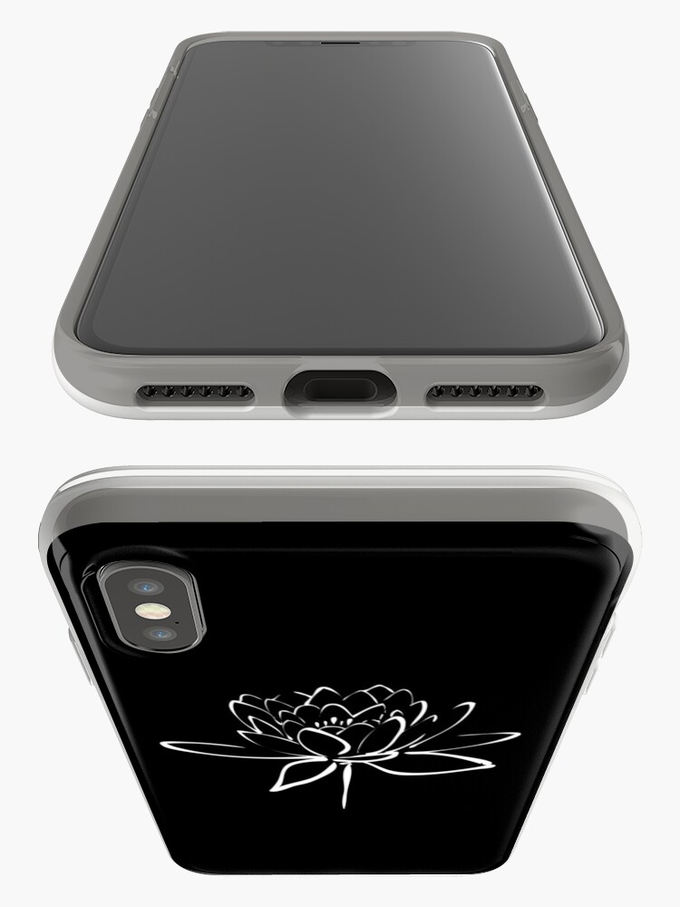 Alternate view of Lotus Flower Calligraphy (White) iPhone Case & Cover