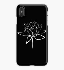 Lotus Flower Calligraphy (White) iPhone XS Max Case