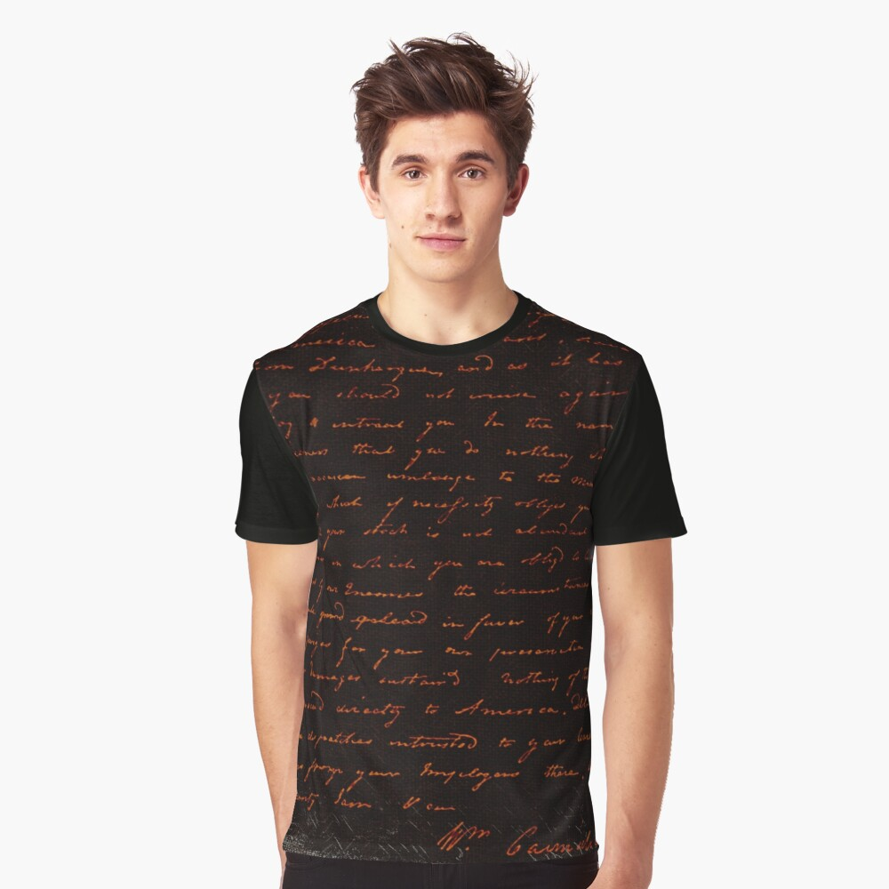 Witchy Writing Halloween Graphic T-Shirt Front