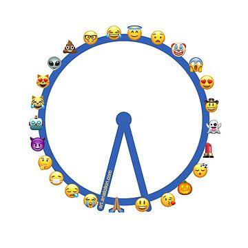Variation of London Eye Emoji. Plain by anatolkin