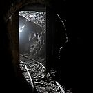 railway door in Smallcleugh  lead mine. Nenthead . cumbria by ferret