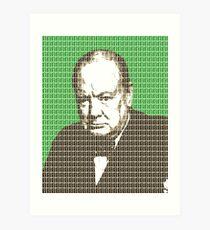Churchill - Green Art Print