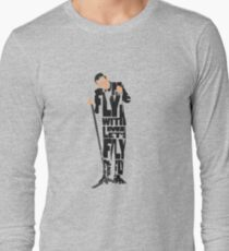 Typographic and Minimalist Frank Sinatra Illustration T-Shirt