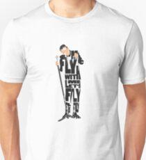 Typographic and Minimalist Frank Sinatra Illustration T-Shirt