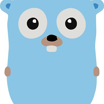 Golang Gopher Cute by pearlaqua