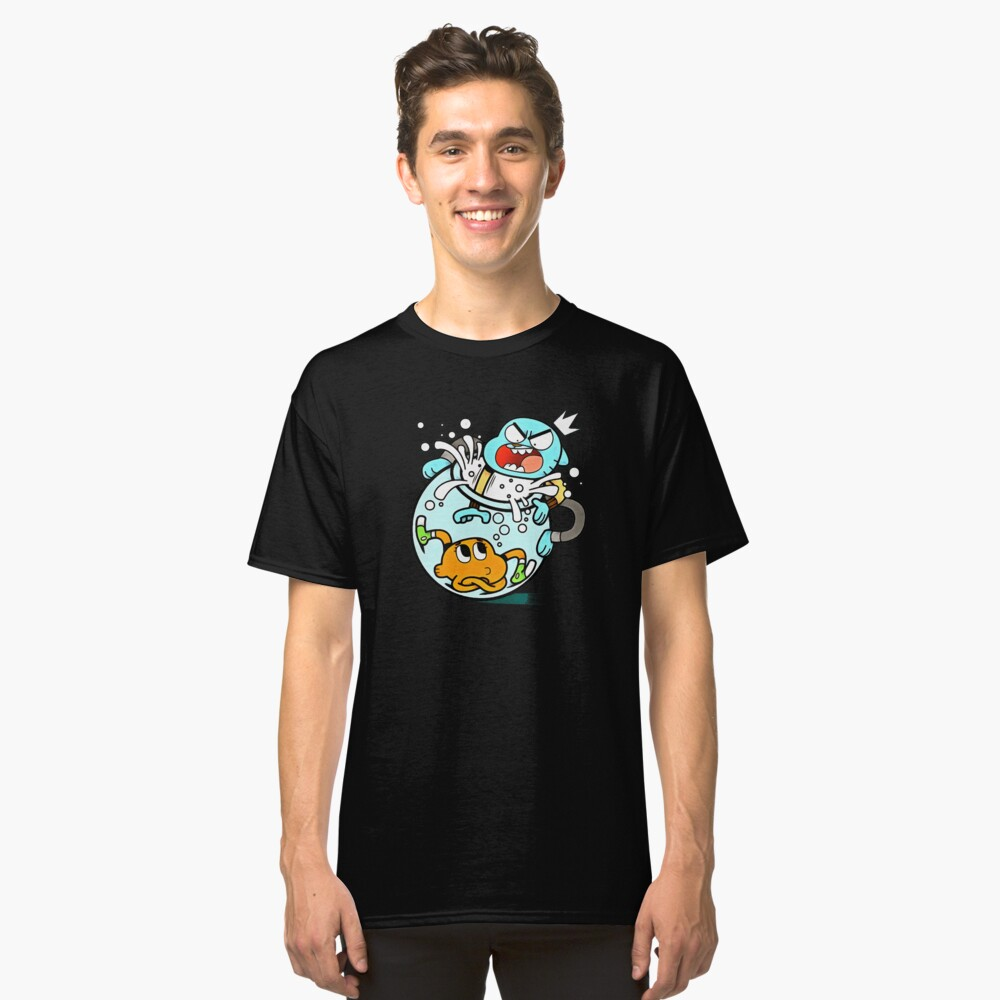 the amazing world of gumball - fish tank Classic T-Shirt Front