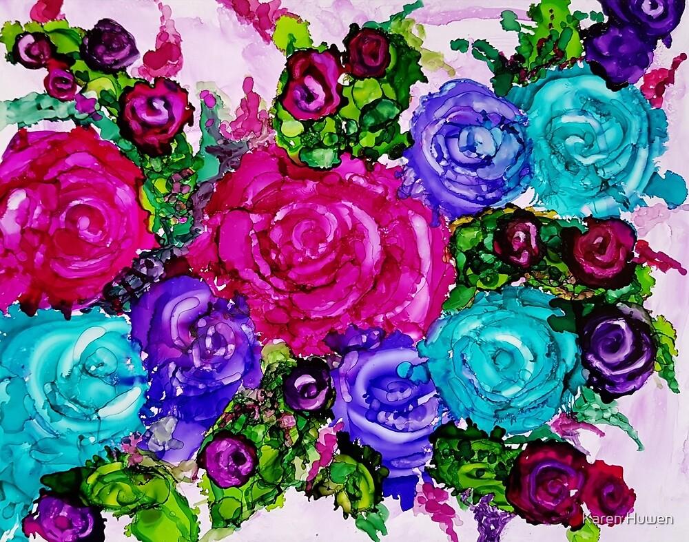 Country Rose Garden by Karen Huwen