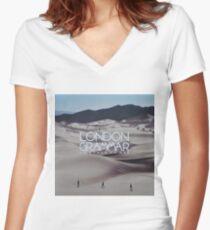 London grammar - o man o woman sleeve art - fanart Women's Fitted V-Neck T-Shirt