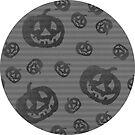 Kürbis-Streifen Black & White Halloween von lollylocket