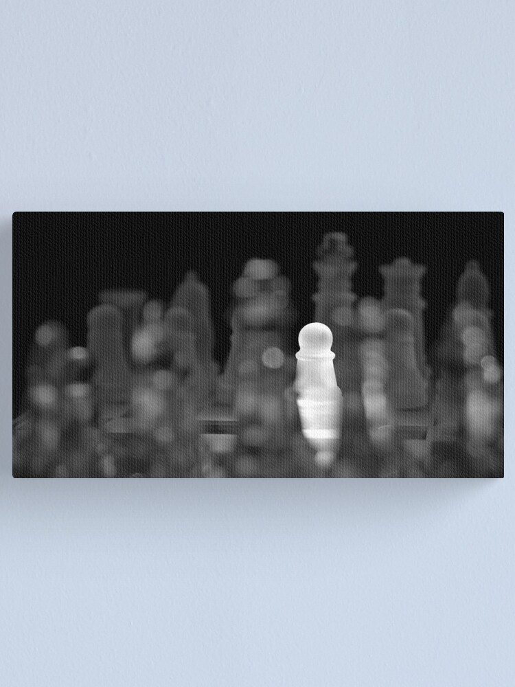 Alternate view of Chess 5: The brave one Canvas Print