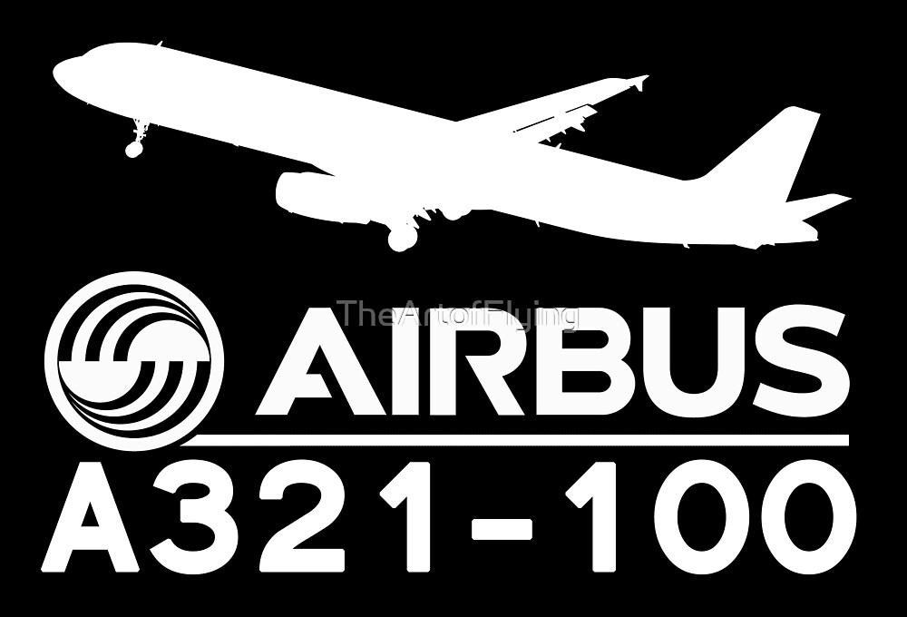 Airbus A321-100 - Silhouette (White) by TheArtofFlying