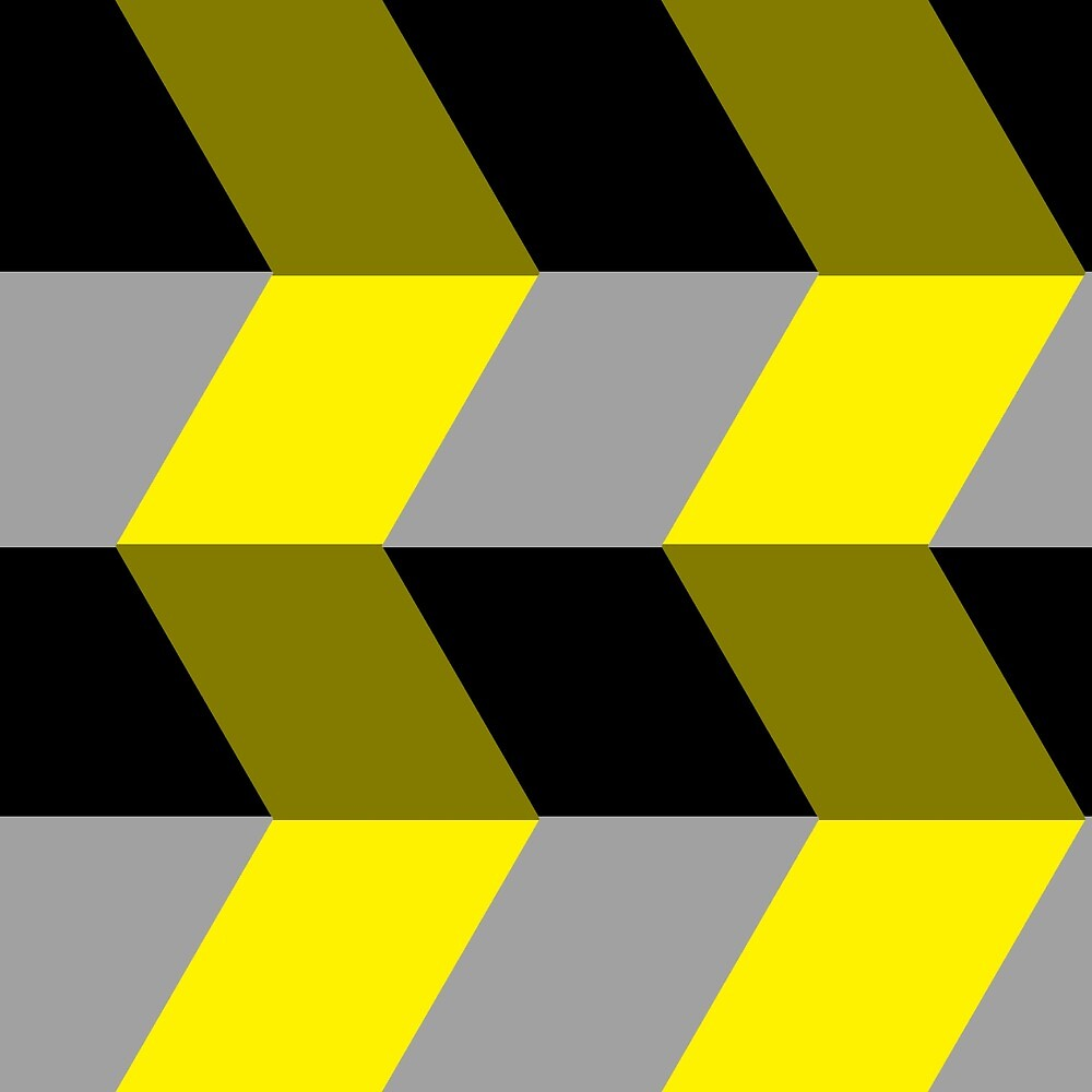 black and yellow pattern 2 by Thomas Olsen