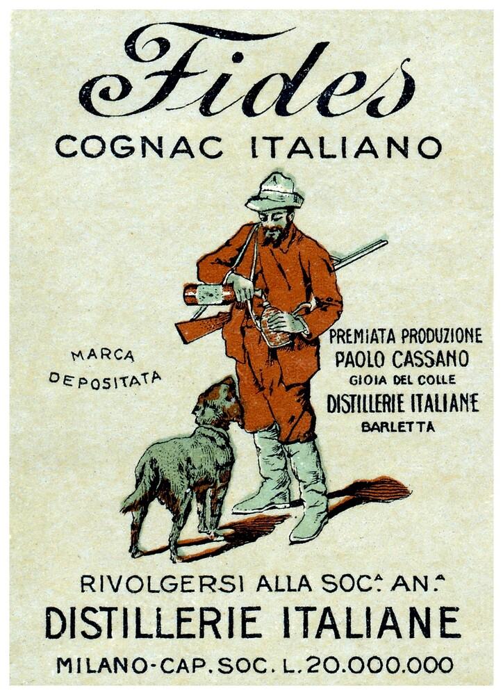 1905 Fides Italian Cognac by historicimage