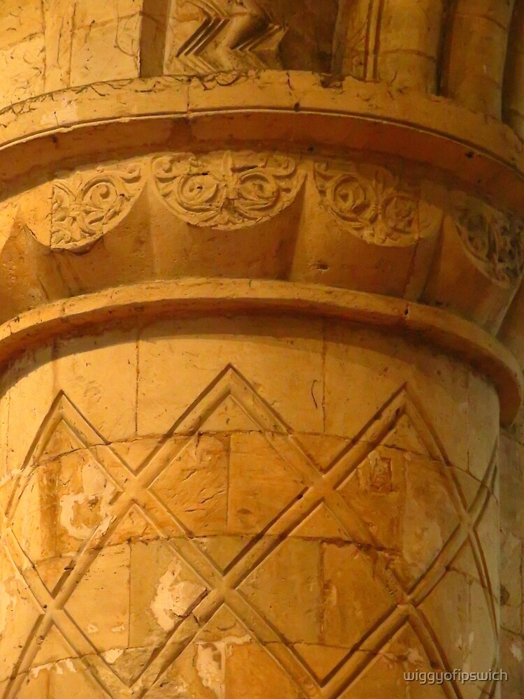 Norman Column, Selby Abbey by wiggyofipswich