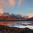 Beinn Alligin.  A Winter Sunset. Loch Torridon. Wester Ross. Scotland. by PhotosEcosse
