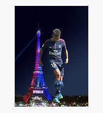 Neymar psg - ball Photographic Print