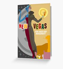 Vintage New Vegas Travel Poster: Platinum Chip (Bordered Version) Greeting Card