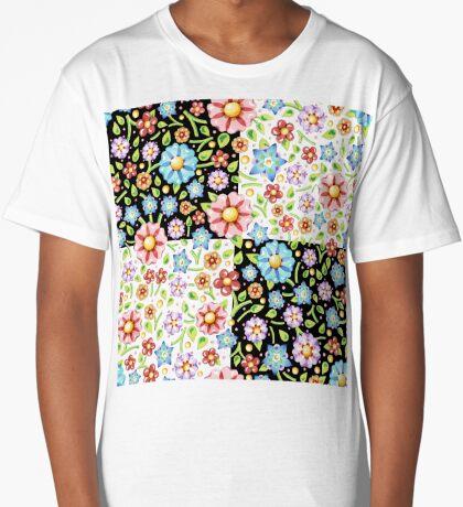Millefiori Floral Checks Long T-Shirt
