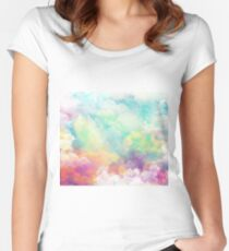 Watercolor fantasy Women's Fitted Scoop T-Shirt